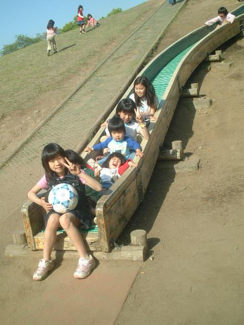 公園のスベリ台